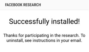 Facebook research installed