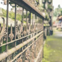 How to paint and maintain wrought iron metal fences